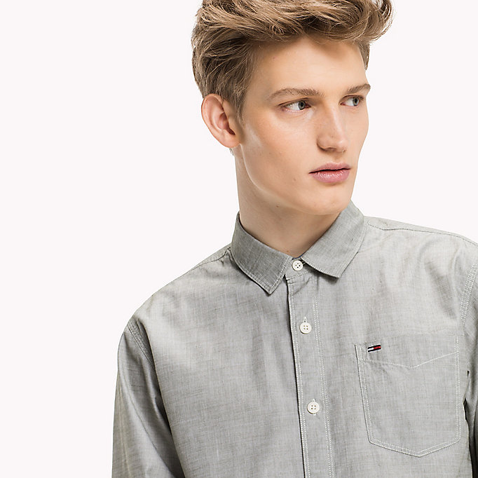 TOMMY JEANS Cotton Regular Fit Shirt - SALSA - TOMMY JEANS Clothing - detail image 3