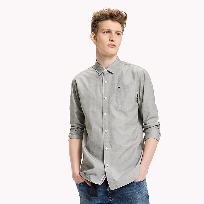 TOMMY JEANS Cotton Regular Fit Shirt - SALSA - TOMMY JEANS Clothing - main image