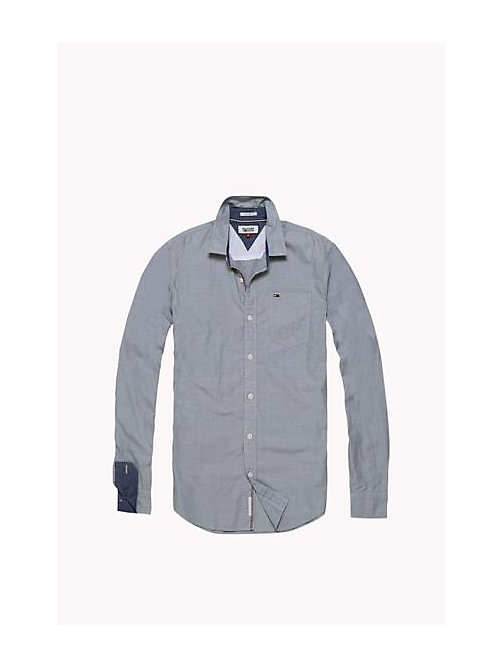TOMMY JEANS Cotton Regular Fit Shirt - SEA SPRAY - TOMMY JEANS HOMBRES - imagen detallada 1