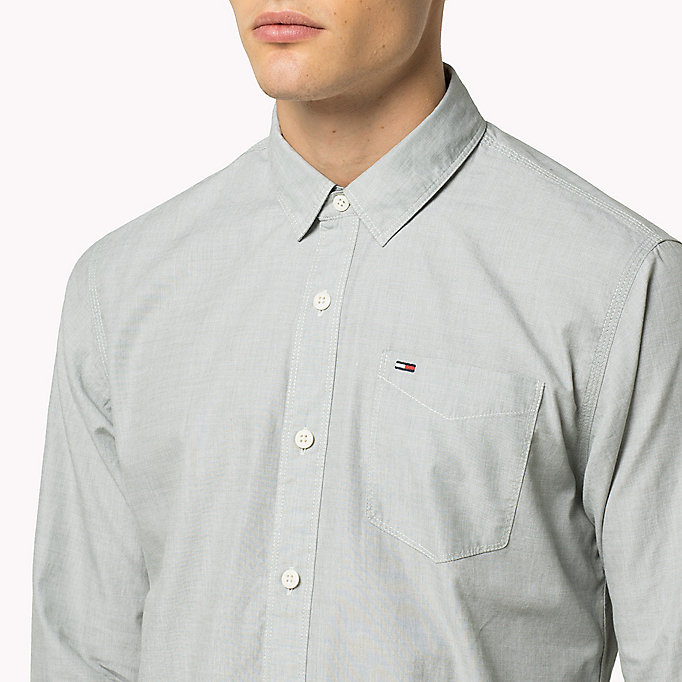 TOMMY JEANS Cotton Regular Fit Shirt - INDIGO BUNTING - TOMMY JEANS Clothing - detail image 3