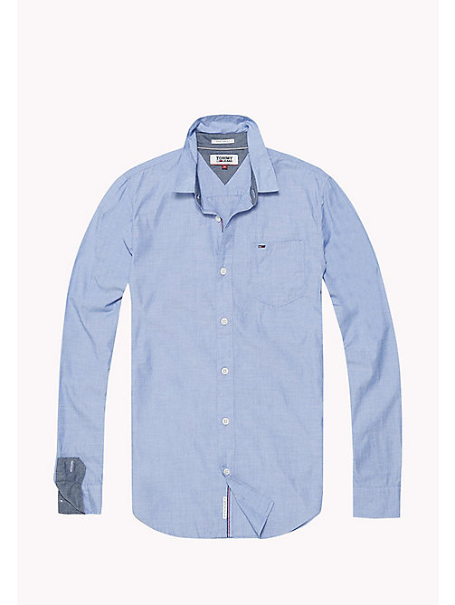 TOMMY JEANS Cotton Regular Fit Shirt - NAUTICAL BLUE - TOMMY JEANS MEN - detail image 1
