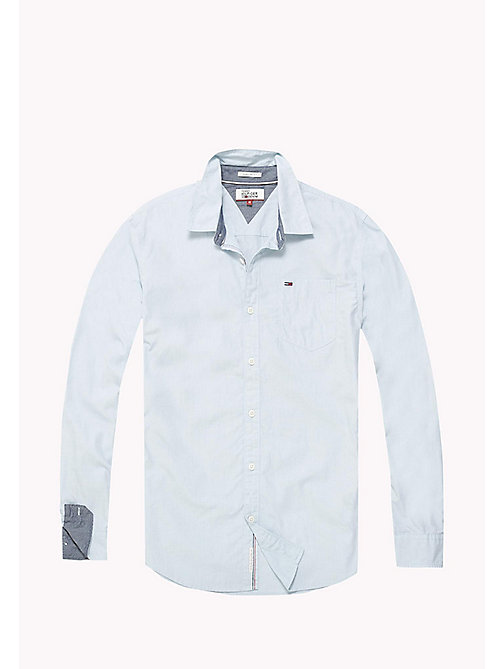 TOMMY JEANS Cotton Regular Fit Shirt - CAMEO BLUE - TOMMY JEANS Shirts - detail image 1