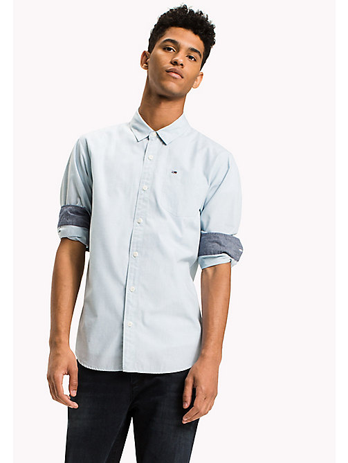 TOMMY JEANS Cotton Regular Fit Shirt - CAMEO BLUE - TOMMY JEANS Shirts - main image