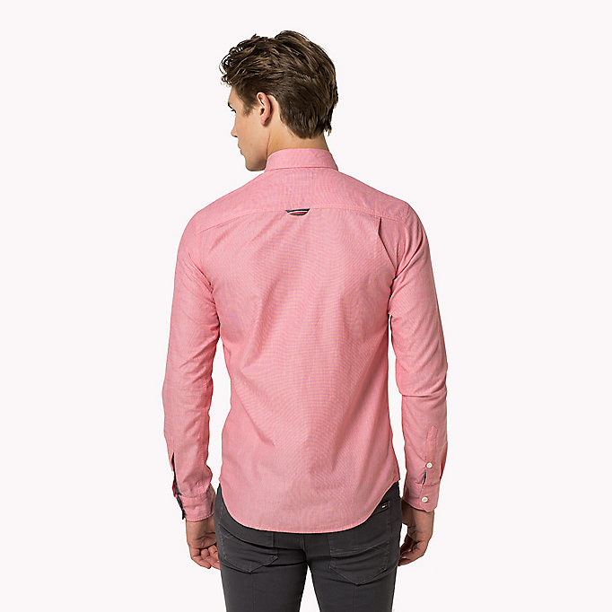 TOMMY JEANS Cotton Regular Fit Shirt - RASPBERRY WINE - TOMMY JEANS Men - detail image 2
