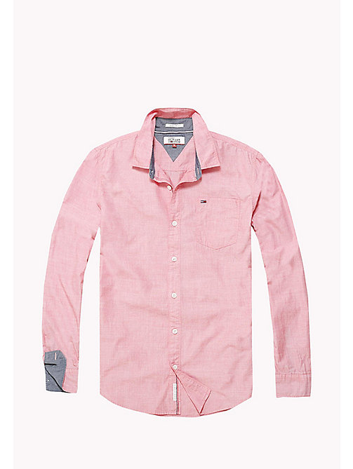 TOMMY JEANS Camicia regular fit in cotone - RACING RED - TOMMY JEANS Camicie - dettaglio immagine 1