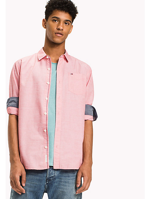 TOMMY JEANS Camicia regular fit in cotone - RACING RED - TOMMY JEANS Camicie - immagine principale