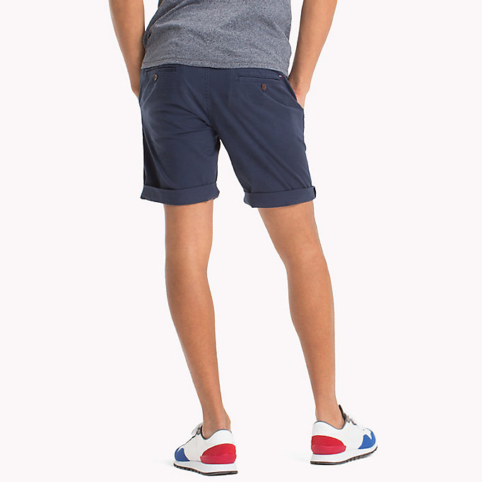 TOMMY JEANS Twill Fitted Straight Shorts - INCENSE - TOMMY JEANS Men - detail image 1