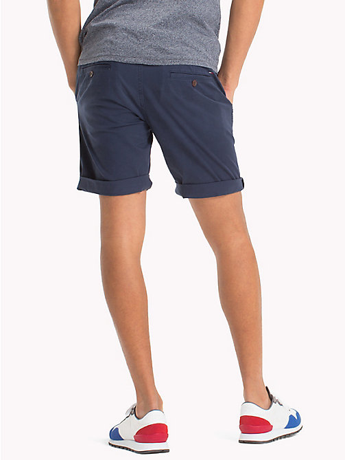 TOMMY JEANS Twill Fitted Straight Shorts - BLACK IRIS - TOMMY JEANS Vacation Style - detail image 1
