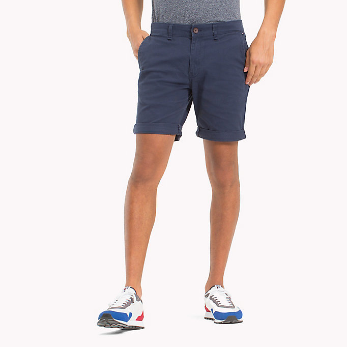 TOMMY JEANS Twill Fitted Straight Shorts - INCENSE - TOMMY JEANS Men - main image