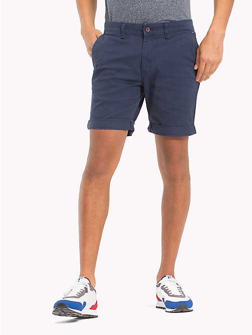 TOMMY JEANS Twill Fitted Straight Shorts - BLACK IRIS - TOMMY JEANS Vacation Style - main image