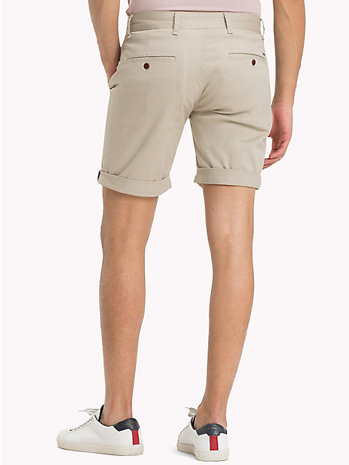 TOMMY JEANS Twill Fitted Straight Shorts - PLAZA TAUPE -  Clothing - detail image 1