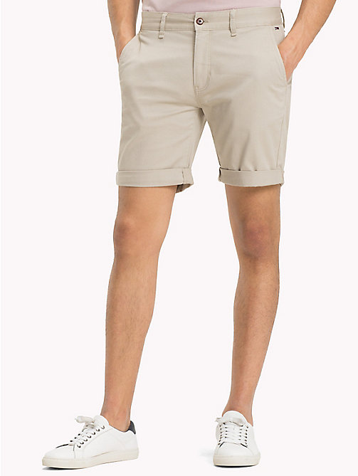 TOMMY JEANS Twill Fitted Straight Shorts - PLAZA TAUPE -  Clothing - main image