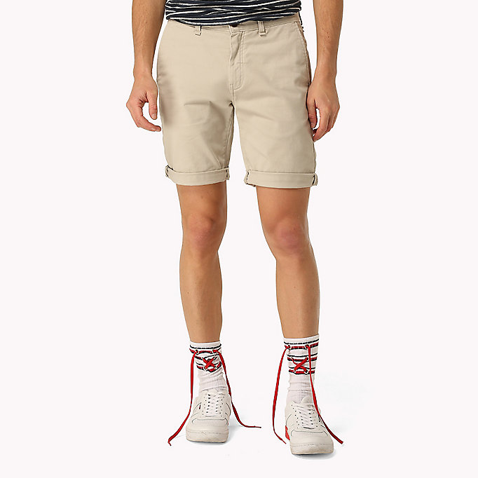 TOMMY JEANS Twill Fitted Straight Shorts - NAUTICAL BLUE - TOMMY JEANS Men - main image