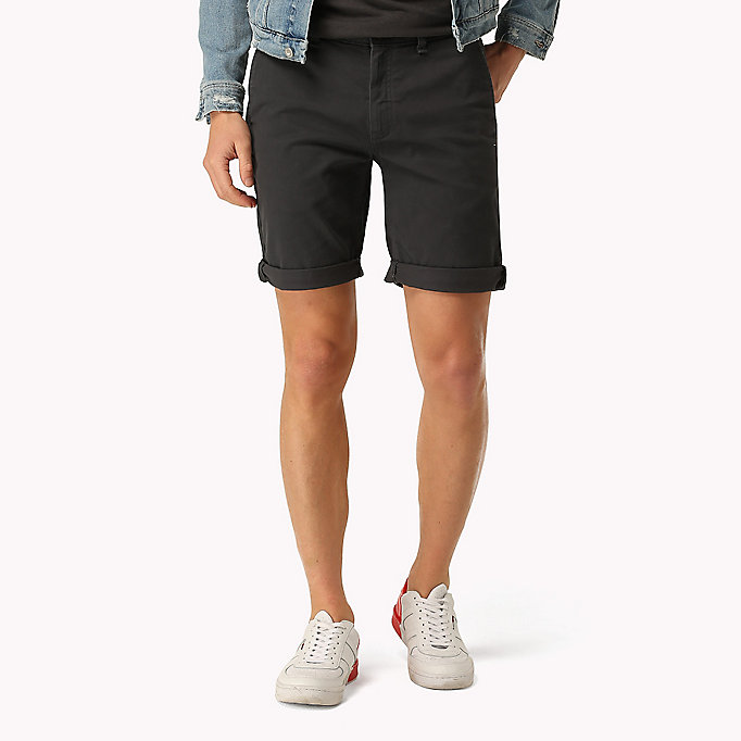 TOMMY JEANS Twill Fitted Straight Shorts - MOONSTRUCK - TOMMY JEANS Men - main image