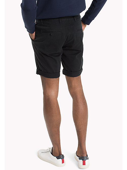 TOMMY JEANS Twill Fitted Straight Shorts - TOMMY BLACK - TOMMY JEANS Festivals Season - detail image 1