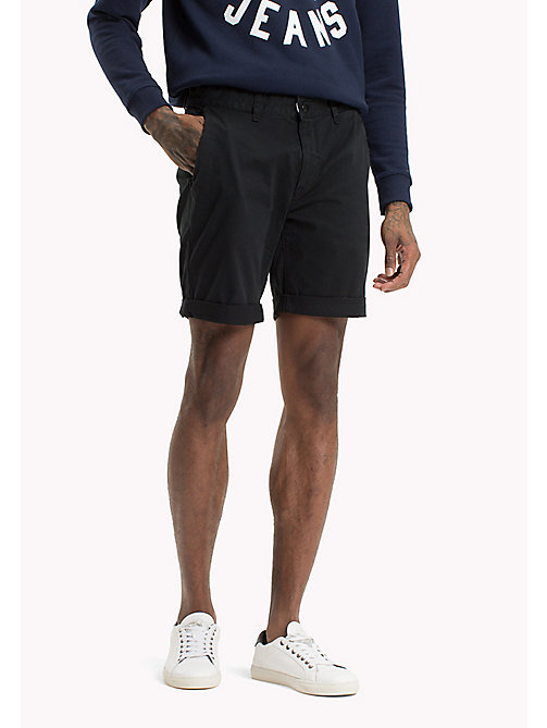 TOMMY JEANS Twill Fitted Straight Shorts - TOMMY BLACK - TOMMY JEANS Festivals Season - main image