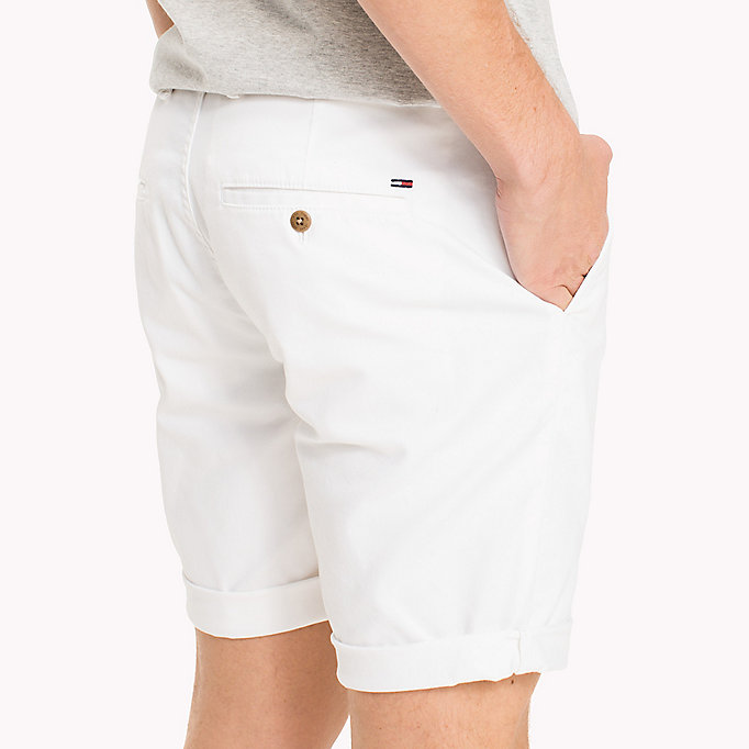 TOMMY JEANS Twill Fitted Straight Shorts - VIRIDIAN GREEN - TOMMY JEANS Men - detail image 3