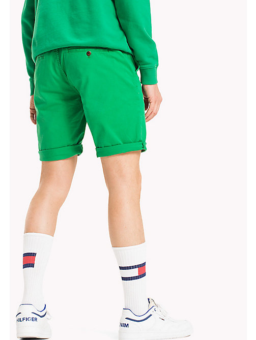 TOMMY JEANS Twill Fitted Straight Shorts - JELLY BEAN - TOMMY JEANS Festival Season - detail image 1