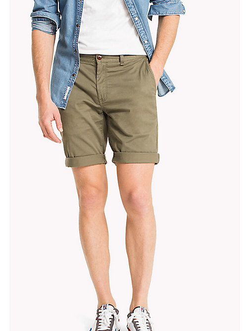 TOMMY JEANS Twill Fitted Straight Shorts - DEEP LICHEN - TOMMY JEANS Trousers & Shorts - main image