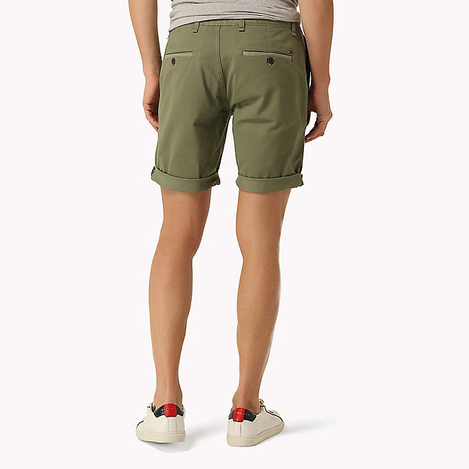 TOMMY JEANS Twill Fitted Straight Shorts - HIGH RISK RED - TOMMY JEANS Men - detail image 1