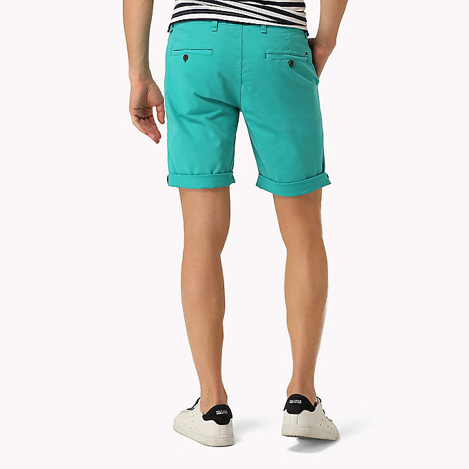TOMMY JEANS Twill Fitted Straight Shorts - EBONY - TOMMY JEANS Men - detail image 1
