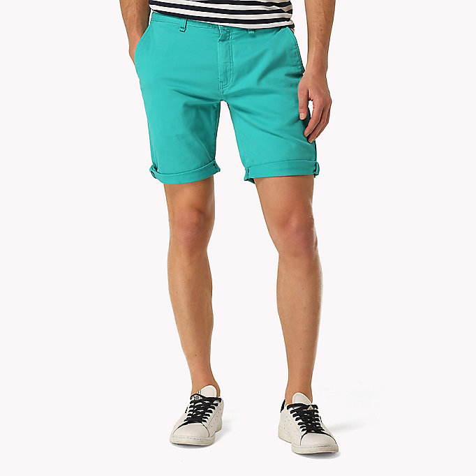 TOMMY JEANS Twill Fitted Straight Shorts - EBONY - TOMMY JEANS Men - main image