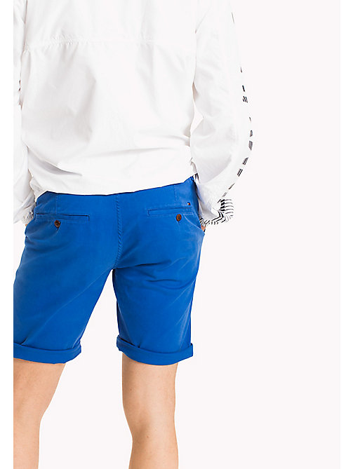 TOMMY JEANS Twill Fitted Straight Shorts - NAUTICAL BLUE - TOMMY JEANS Vacation Style - detail image 1