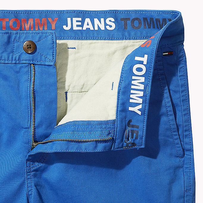 TOMMY JEANS Twill Fitted Straight Shorts - BASIL - TOMMY JEANS Men - detail image 4