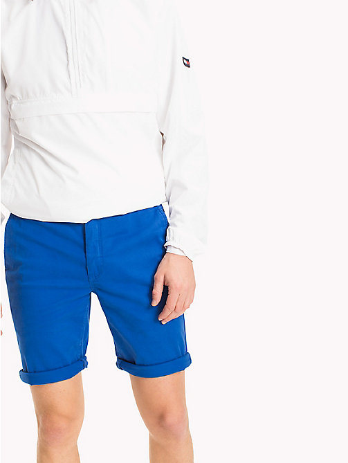 TOMMY JEANS Twill Fitted Straight Shorts - NAUTICAL BLUE - TOMMY JEANS Vacation Style - main image