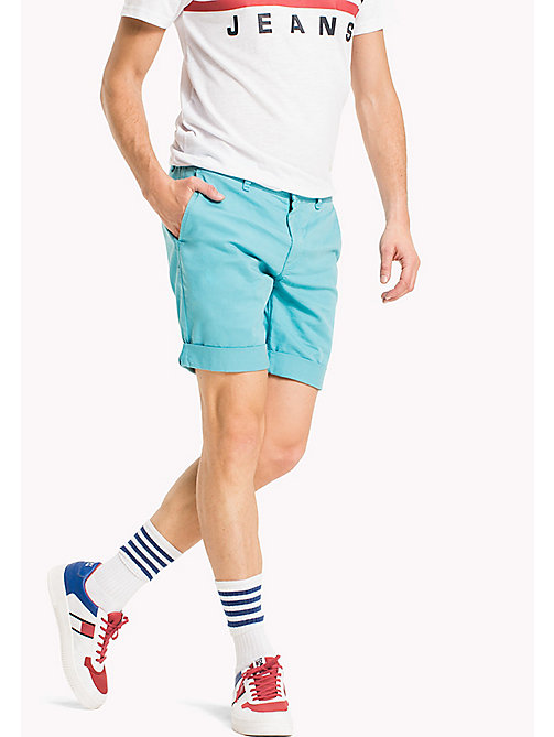 TOMMY JEANS Shorts straight fit aderenti in twill - MAUI BLUE - TOMMY JEANS Pantaloni - immagine principale