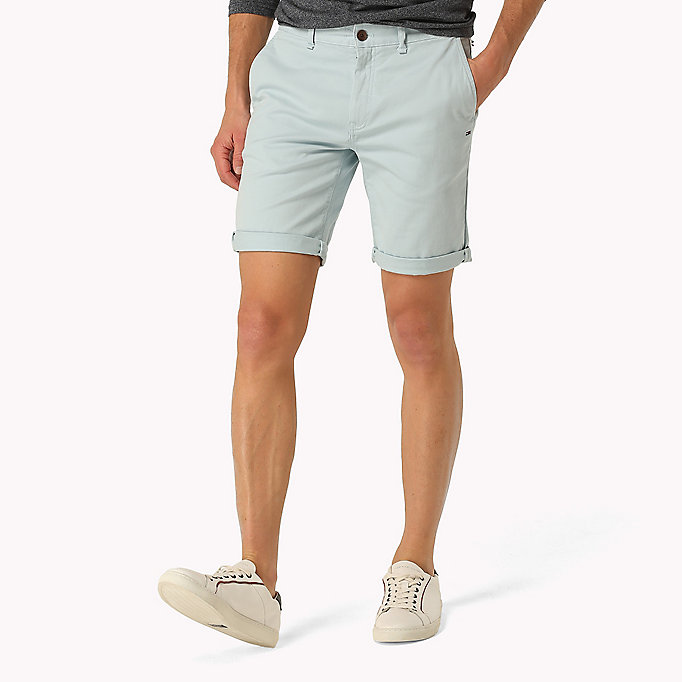 TOMMY JEANS Twill Fitted Straight Shorts -  - TOMMY JEANS Men - main image