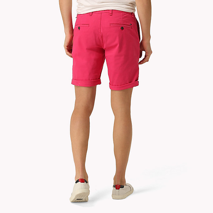 TOMMY JEANS Twill Fitted Straight Shorts - SEA SPRAY - TOMMY JEANS Men - detail image 1