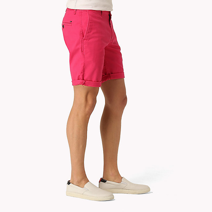 TOMMY JEANS Twill Fitted Straight Shorts - SEA SPRAY - TOMMY JEANS Men - detail image 2