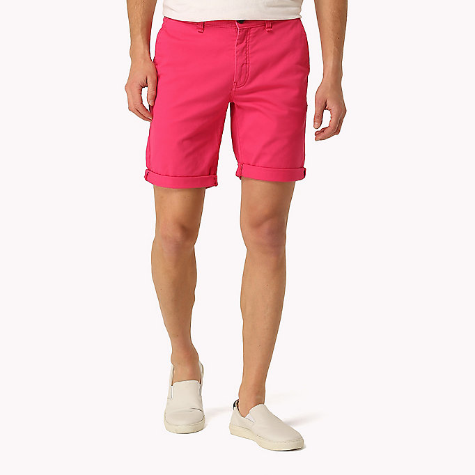 TOMMY JEANS Twill Fitted Straight Shorts - SEA SPRAY - TOMMY JEANS Men - main image