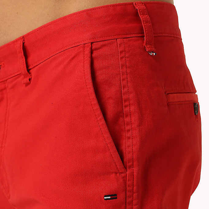 TOMMY JEANS Twill Fitted Straight Shorts - CLASSIC WHITE - TOMMY JEANS Men - detail image 3