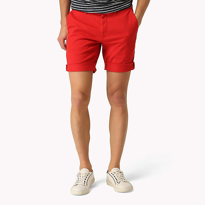 TOMMY JEANS Twill Fitted Straight Shorts - CLASSIC WHITE - TOMMY JEANS Men - main image