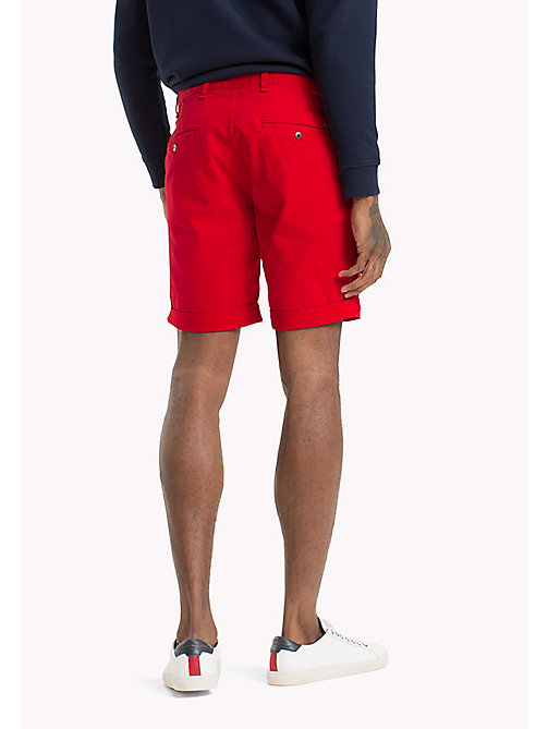 TOMMY JEANS Twill Fitted Straight Shorts - RACING RED - TOMMY JEANS Clothing - detail image 1
