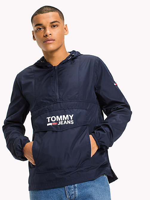 TOMMY JEANS Relaxed Fit Hooded Anorak - BLACK IRIS - TOMMY JEANS Sustainable Evolution - main image