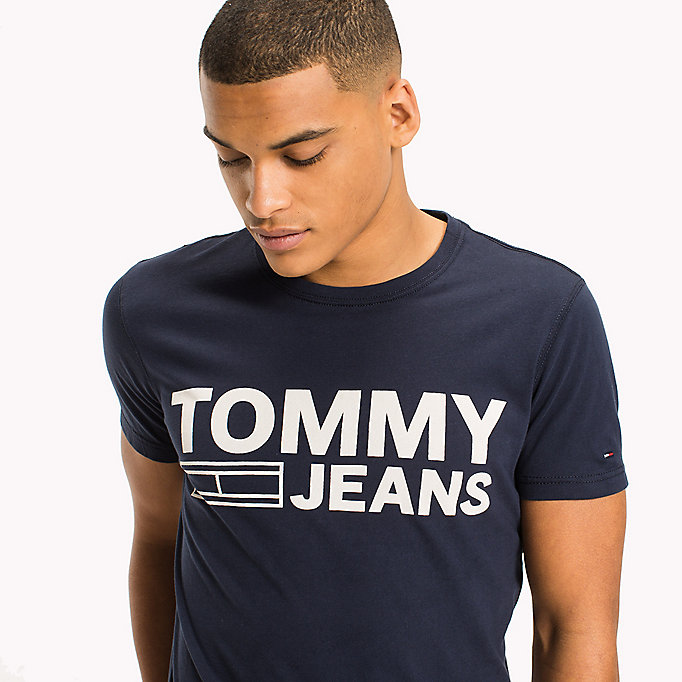 TOMMY JEANS Organic Cotton Jersey T-Shirt - EVERGREEN - TOMMY JEANS Men - detail image 2