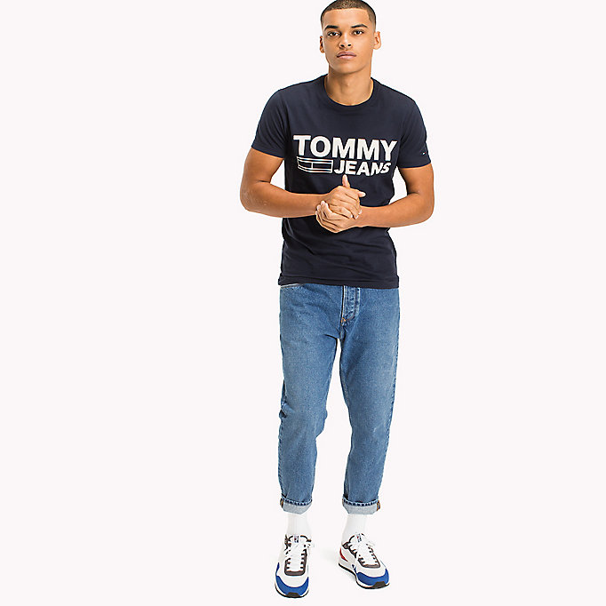 TOMMY JEANS Organic Cotton Jersey T-Shirt - EVERGREEN - TOMMY JEANS Men - main image