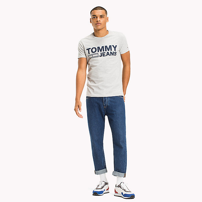 TOMMY JEANS Organic Cotton Jersey T-Shirt - ARTISANS GOLD - TOMMY JEANS Men - main image
