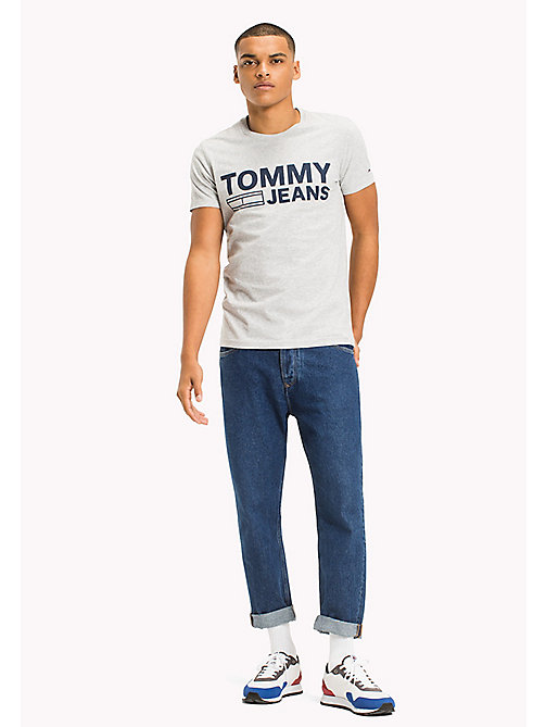 TOMMY JEANS Organic Cotton Jersey T-Shirt - LT GREY HTR - TOMMY JEANS T-Shirts - main image