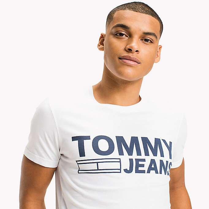 TOMMY JEANS Organic Cotton Jersey T-Shirt - NAUTICAL BLUE - TOMMY JEANS Men - detail image 2