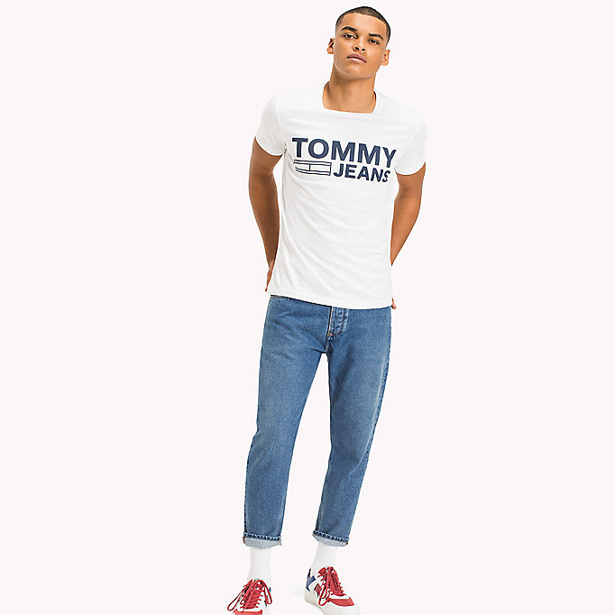 TOMMY JEANS Organic Cotton Jersey T-Shirt - NAUTICAL BLUE - TOMMY JEANS Men - main image