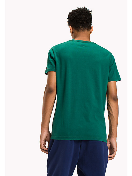TOMMY JEANS Organic Cotton Jersey T-Shirt - EVERGREEN - TOMMY JEANS T-Shirts - detail image 1