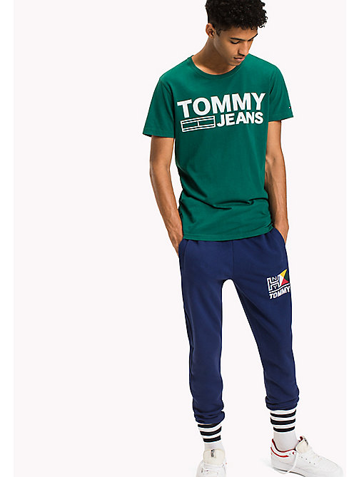 TOMMY JEANS Organic Cotton Jersey T-Shirt - EVERGREEN - TOMMY JEANS T-Shirts - main image