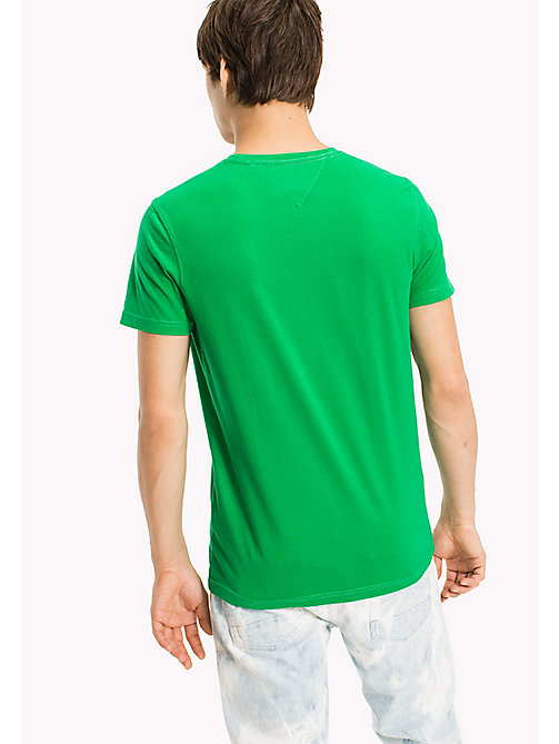 TOMMY JEANS Organic Cotton Jersey T-Shirt - JELLY BEAN - TOMMY JEANS T-Shirts & Polos - detail image 1