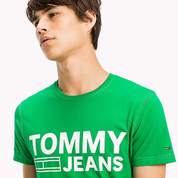 TOMMY JEANS Organic Cotton Jersey T-Shirt - BLACK IRIS - TOMMY JEANS Men - detail image 2