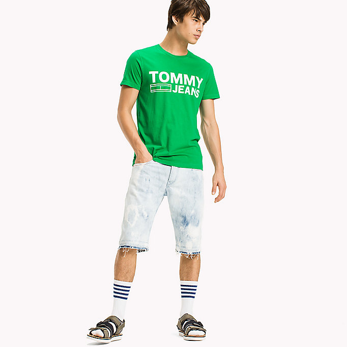TOMMY JEANS Organic Cotton Jersey T-Shirt - BLACK IRIS - TOMMY JEANS Men - main image
