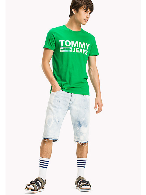 TOMMY JEANS Organic Cotton Jersey T-Shirt - JELLY BEAN - TOMMY JEANS T-Shirts & Polos - main image